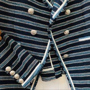 43aa3a1fd Veronica Beard Carroll Stripe Tweed Jacket